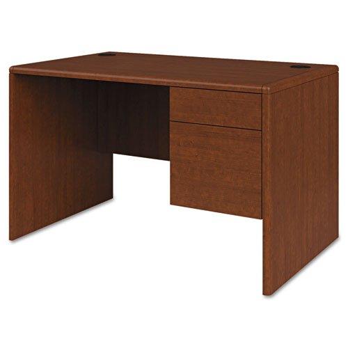 HON 107885RJJ 10700 Series Single 3/4-Right Pedestal Desk, 48 by 30 by 29.5-Inch, Henna Cherry (Series 10700 Jj)