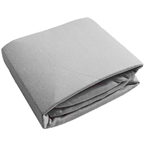 Kushies Crib Sheet, Soft 100% Breathable Cotton Flannel, Made in Canada, Grey Kushies Baby S330-GRY