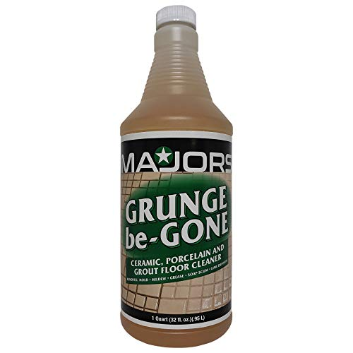 Best Ceramic Tile Porcelain and Grout Stain Remover | Acid Free Safe Solution | Floor Cleaner of Dirty Grease Mold and Mildew | Heavy Duty Cleaner for Home and Commercial Use | MAJORS Grunge be-Gone