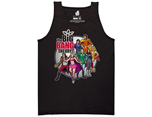 Ripple Junction Big Bang Theory Comic Book Logo Adult Tan...