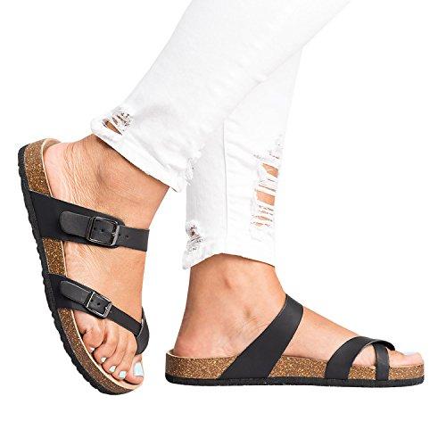 Flip Black Slippers Slides Sandals Summer Thong Slip Shoes Flops On Girl Womens qX5fPxUwf