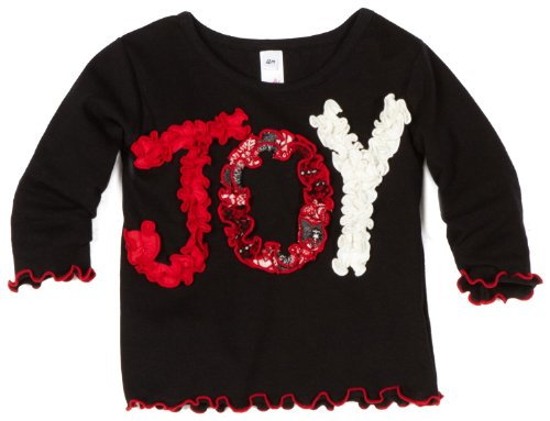 Love U Lots Baby Girls' Joy Ruffle Baby Tee