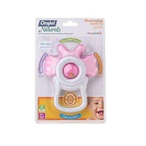Munchkin Orajel Massaging Teether Pink