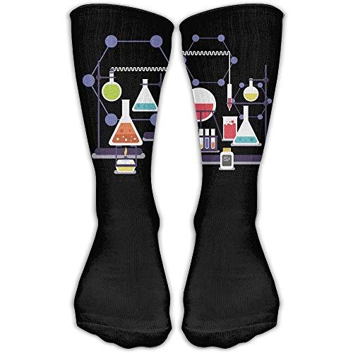 YUANSHAN Socks Chemistry Heating Experiment Women & Men Socks Soccer Sock Sport Tube Stockings Length 11.8Inch