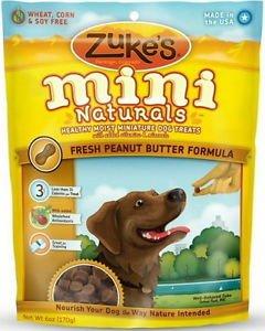 Zukes Mini Naturals Moist Miniature Treats Peanut Butter (Glucosamine Peanut Butter)