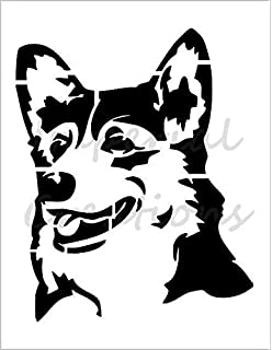 Reusable Stencils for Painting in Small /& Large Sizes Corgi Dog Stencil Template for Walls and Crafts