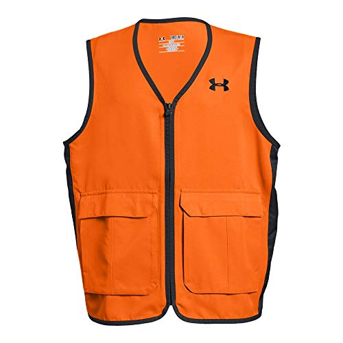 Under Armour Boys' Blaze Antler Logo Hunting Vest, Blaze Orange (826)/Black, Youth - Clothes Youth Hunting