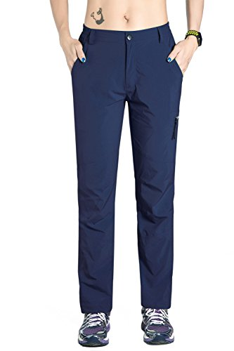 Unitop Womens Breathable Lightweight Hiking Cargo Pants Deep Blue M 32 Inseam