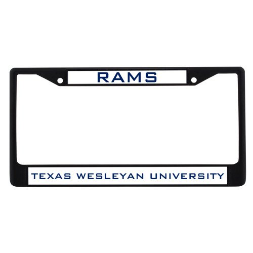 CollegeFanGear Texas Wesleyan Metal License Plate Frame in Black 'Rams' by CollegeFanGear