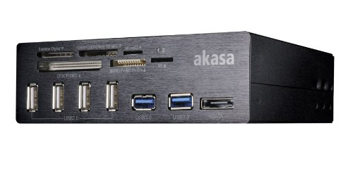 Akasa Interconnect Pro 5.25 inch USB Front Panel with Card Reader by Seagate