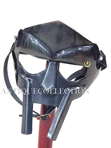MF Doom Rapper Madvillain Gladiator Mask in Antique Finish -