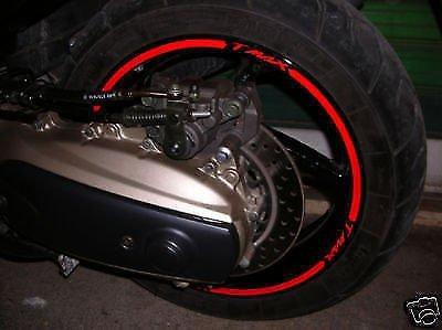 Pegatinas de bicicleta ruedas llantas (ROJO)
