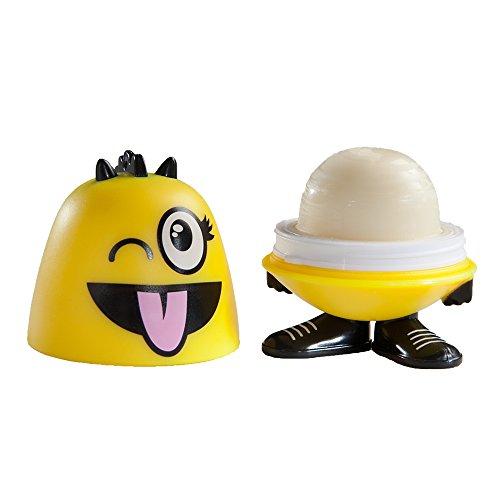 Emoji Goof Balms - Natural Kids Lip Balm + Moisturizing & Repair + Helps Prevent Cracked Lips + Strawberry Sorbet Chapstick + Fun Party Supplies + (6 Pack) by Goof Balms (Image #2)