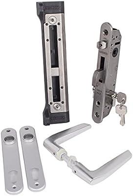 loci Nox Forty Juego de aluminio Cerradura de Juego completo para drehtore puertas correderas, hoftore: Amazon.es: Bricolaje y herramientas