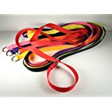 8 - Country Brook Design 1 Inch 6 Foot Polypro Kennel Slip Leads - Assorted Colors