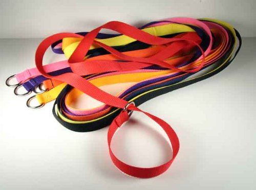 25 Country Brook Design 1 Inch 6 Foot Polypro Kennel Slip Leads Assorted Colors