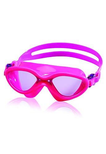 (Speedo Kids' Hydrospex Classic Swim Mask, Reddish Pink, One Size)