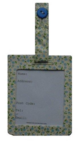Fiori blu mini bagaglio identità Borsa Tag