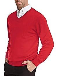Men's Knitting Sweater Stylish Long Sleeve V-Neck Pullover