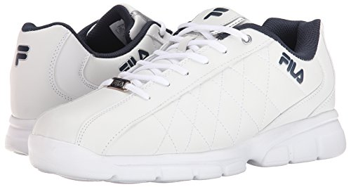 Fila Men's Fulcrum 3 Athletic Shoe, White/White Navy, 8 D US