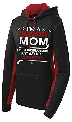 Cool Hockey Mom Performance Hoodie (Large, Black/Deep - Mom Hockey Sweatshirt