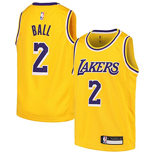 Lonzo Ball Los Angeles Lakers #2 Youth Gold Home Swingman Jersey (Medium 10/12) ()