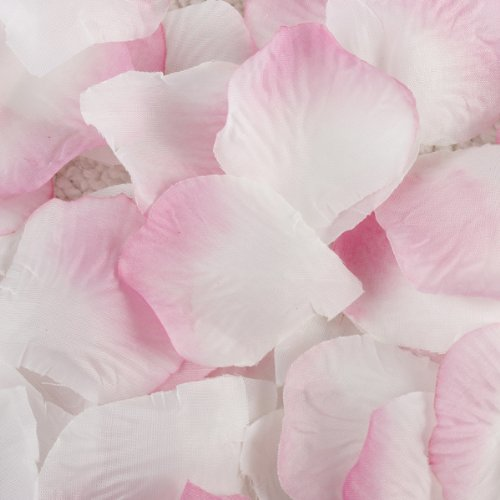 Bridal shower decorations amazon pink white 100 silk flower rose petal wedding bridal party supply decoration junglespirit Choice Image