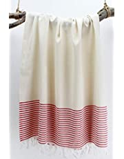 100% Cotton Lightweight, Super Absorbent, Fast Drying Beach Towels and Bath Towels, Made in Turkey