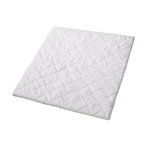 roba Matelas pour parcs carré, adapté pour parc 0246 et 0256, matelas pour parcs 100x100cm, matelas blanc, matelassée, 120cm. 1