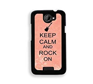 Keep Calm And Rock On - Coral FlorProtective Diyer WHITE Case - Fits Case Diy For LG G2 Case Cover Cover