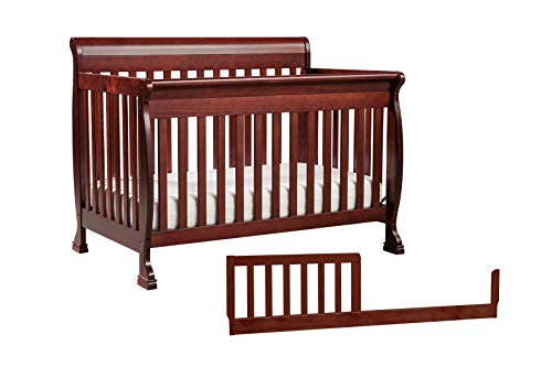 Cherry Toddler Beds - DaVinci Kalani 4-in-1 Convertible Crib with Toddler Bed Conversion Kit, Rich Cherry