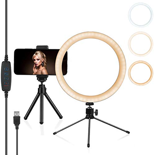 LED Ring Light with Tripod Stand, 10