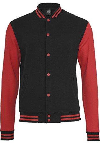 College Uomo Felpa Sweatjacket Classics Bekleidung Tone Nero rosso 2 Urban S6qBO