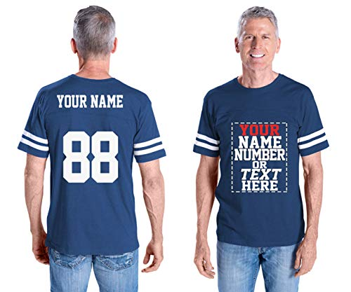 Custom Cotton Jerseys - Male Your OWN Jersey T Shirts - Personalized Team Uniforms for Casual Outfit
