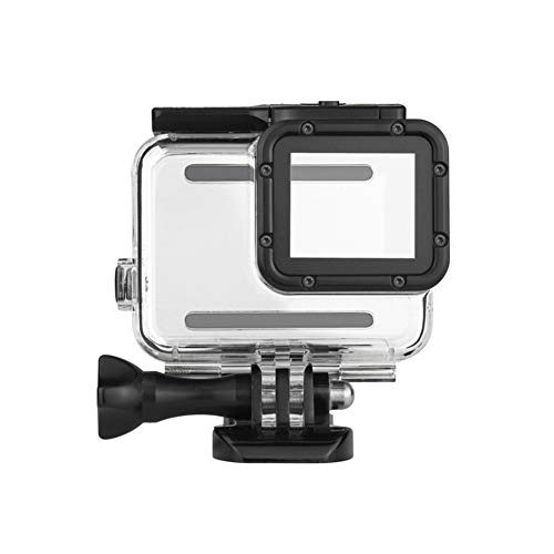 (Waterproof Housing Case for GoPro Hero 4 3+ with Replacement Latch Rear Snap Plastic Lock Buckle (Clear))