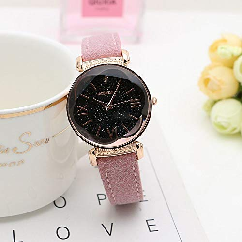 Amazon.com : Embiofuels - Fashion Rose Gold Leather Watches ...
