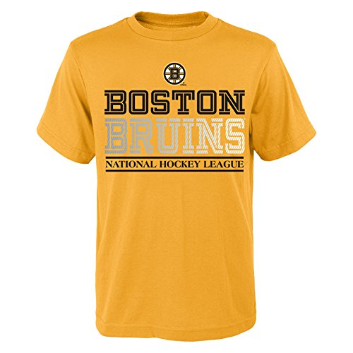 NHL Boston Bruins Overtime S/S Tee, X-Large, Yellow