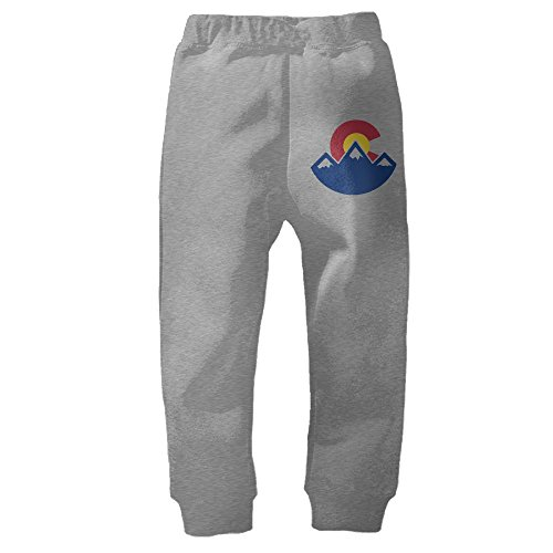 Vintage Colorado Sunset Unisex Kids Toddlers Sweatpants Ash 5-6 - Colorado Mall Denver In