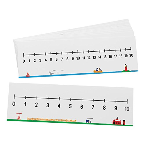 Didax Educational Resources 0-10/0-20 Number Line, Set of 10 ()