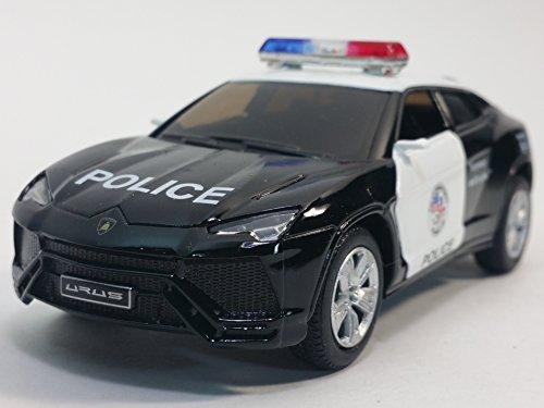 Kinsmart Lamborghini Urus Black   White Police Squad Car 1 36 Scale Diecast Interceptor