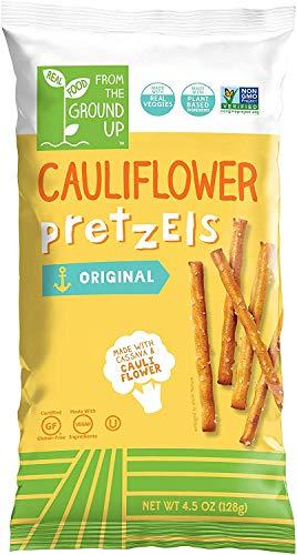 REAL FOOD FROM THE GROUND UP Vegan Pretzels - 6 Count (Cauliflower, Sticks) -
