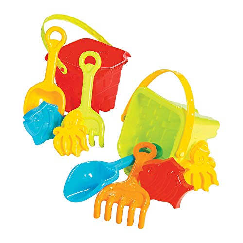 Fun Express - Pre Packed Beach Toy Buckets - Toys - Active Play - Beach Toys - 1 Piece by Fun Express (Image #1)
