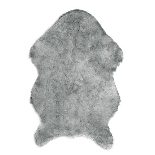 Slaxry Faux Sheepskin Rug Carpet with Super Soft Fluffy Thic