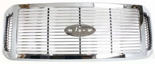 Crash Parts Plus Chrome Grille Assembly for 2006-2007 Ford F-250 SD, F-350, F-450, F-550