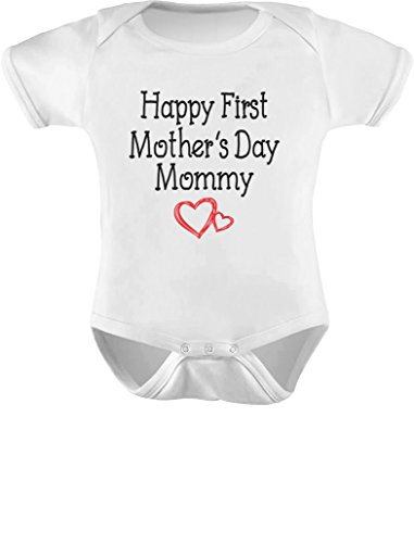 TeeStars – Happy First Mother's Day Mommy Gift for New Moms Cute Baby Bodysuit