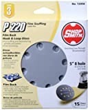 ALI INDUSTRIES 12056 8 Hole 220 25 CT Grit Disc, 5-Inch, 15-Pack