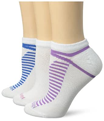 Hanes Women's Constant Comfort with Xtemp No Show Sock, White/Blue, 9-11 (Shoe Size 5-9) (Pack of 3)
