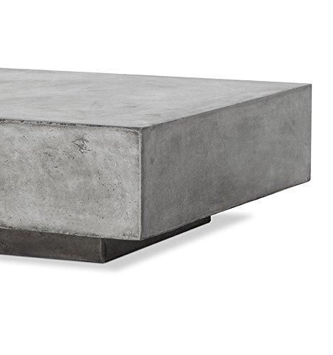 Meubletmoi Couchtisch Quadratisch In Beton U2013 Möbel Wohnzimmer Innen Außen U2013  Style Moderne Zeitgenössische: Amazon.de: Küche U0026 Haushalt