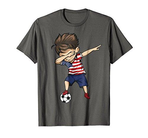 Dabbing Soccer Boy United States Jersey Shirt - USA Football