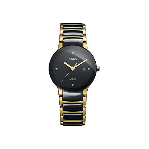 - Rado Women's R30930712 Centric Jubile Two Tone Black Ceramic Bracelet Watch